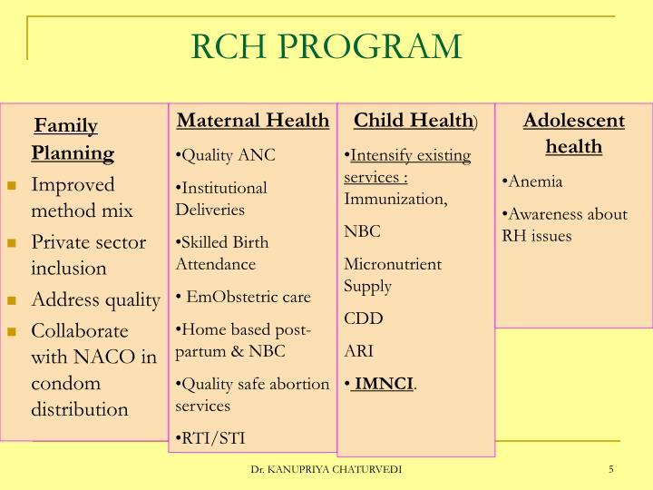 RCH PROGRAM