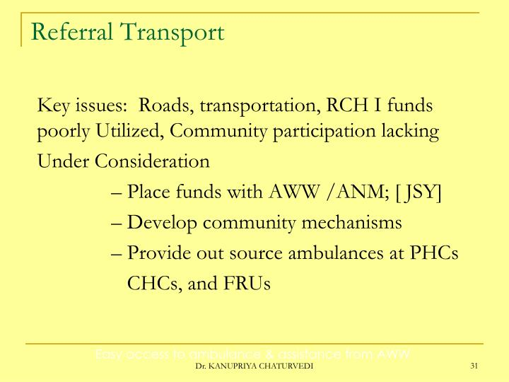 Referral Transport