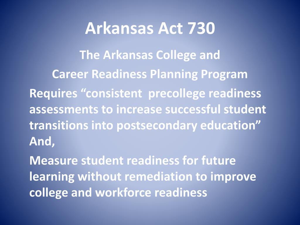 Arkansas Act 730