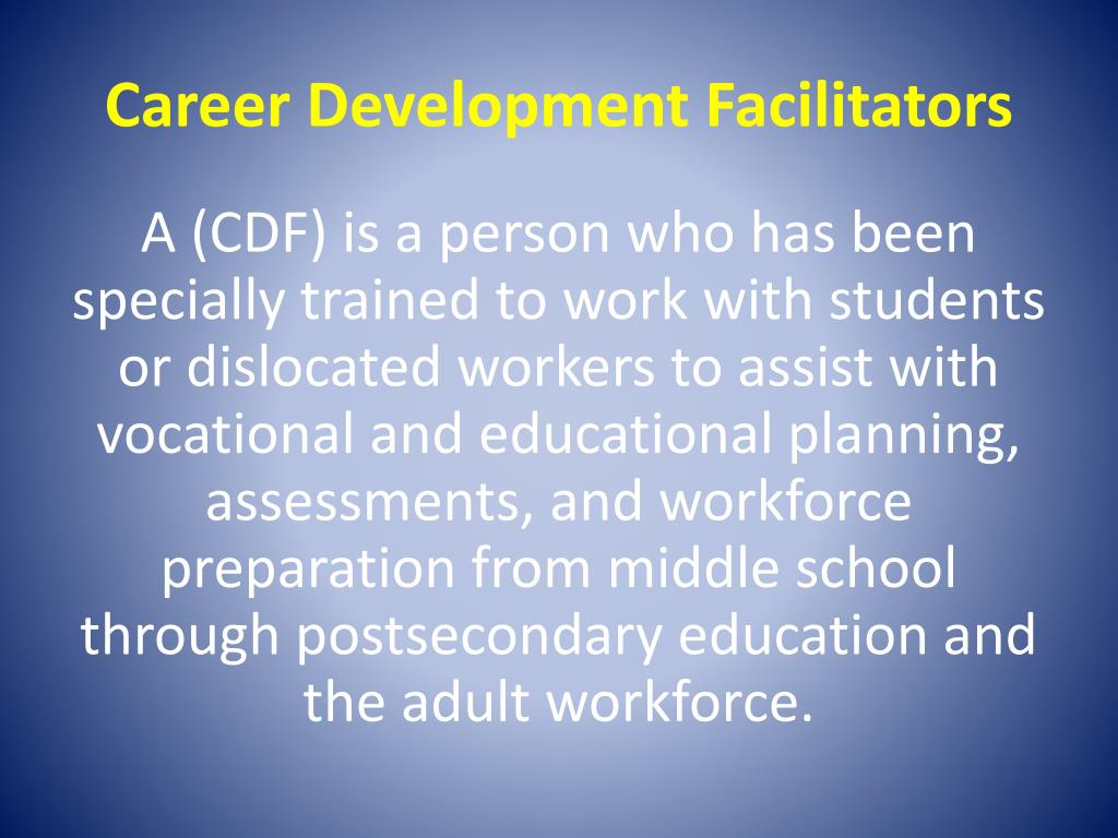Career Development Facilitators