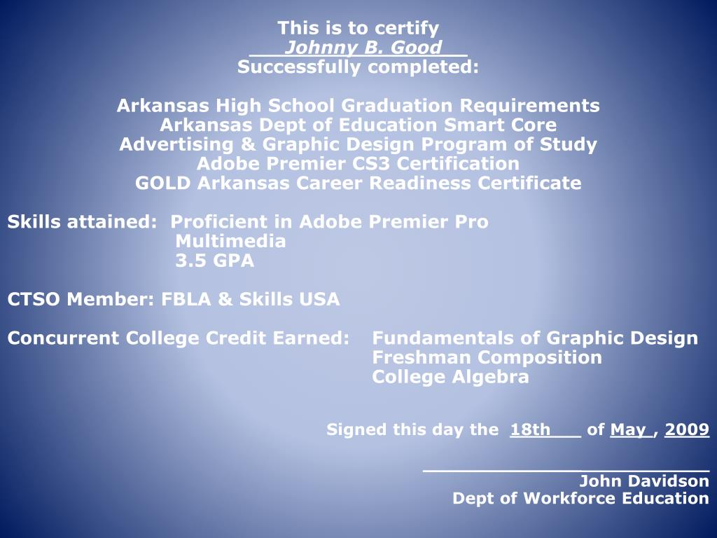 This is to certify