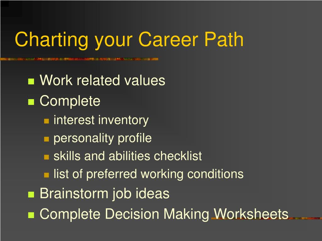 Charting your Career Path