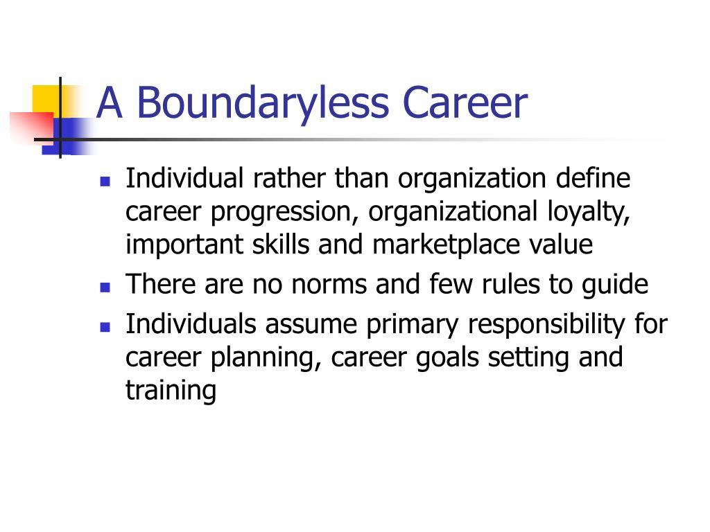 A Boundaryless Career