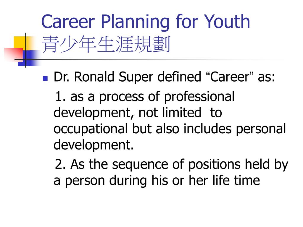 Career Planning for Youth