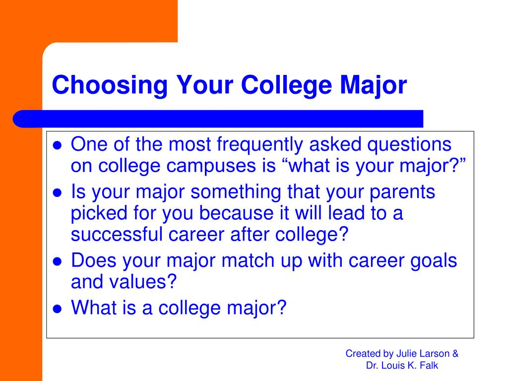 "One of the most frequently asked questions on college campuses is ""what is your major?"""