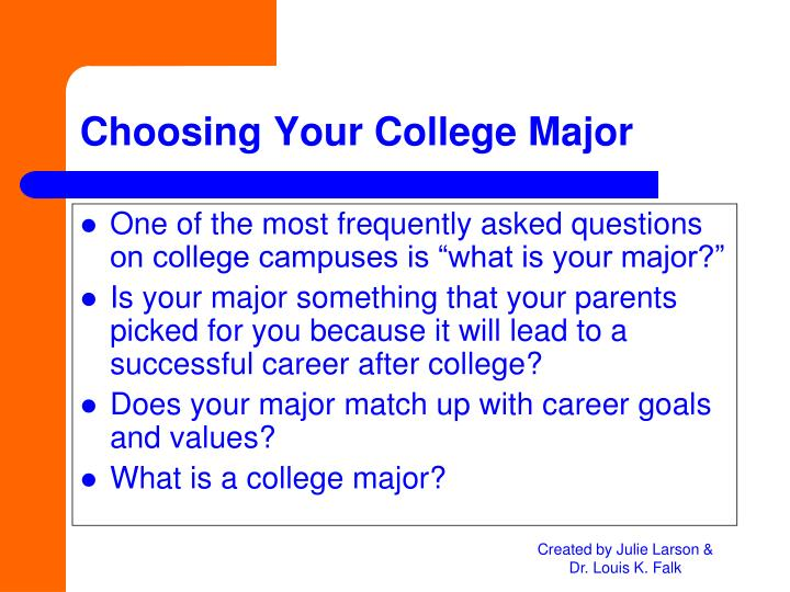 Choosing your college major
