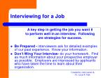 interviewing for a job
