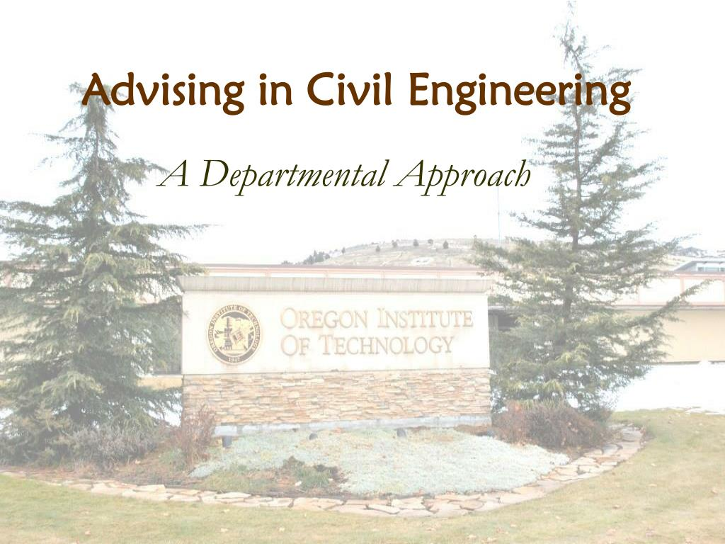 Advising in Civil Engineering