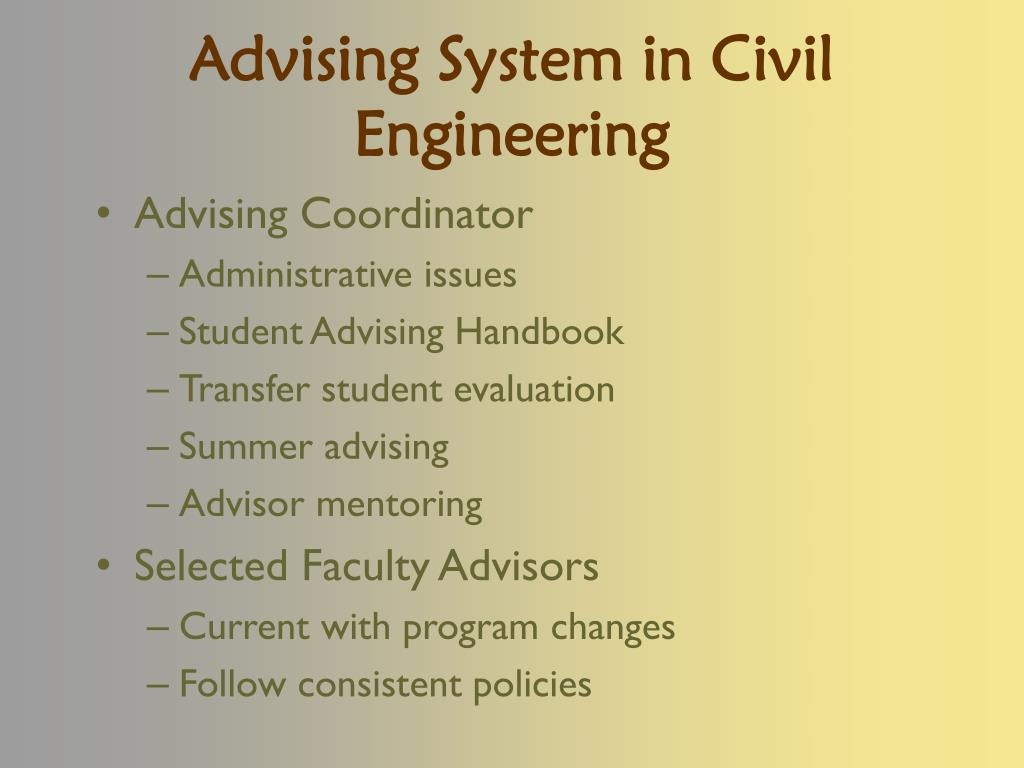 Advising System in Civil Engineering