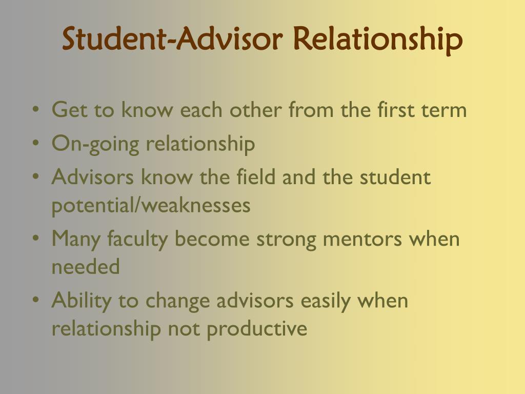 Student-Advisor Relationship