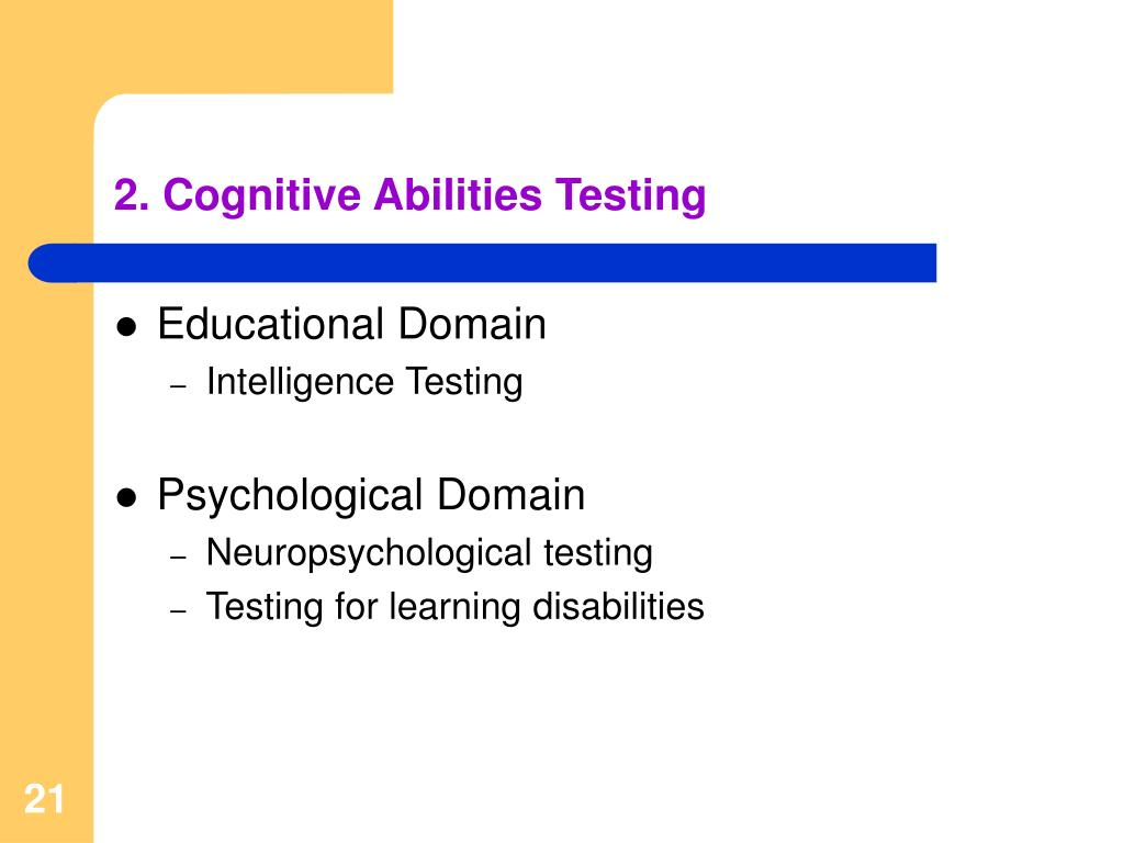 2. Cognitive Abilities Testing
