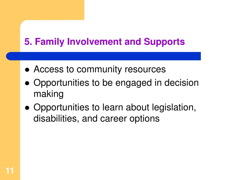 5. Family Involvement and Supports