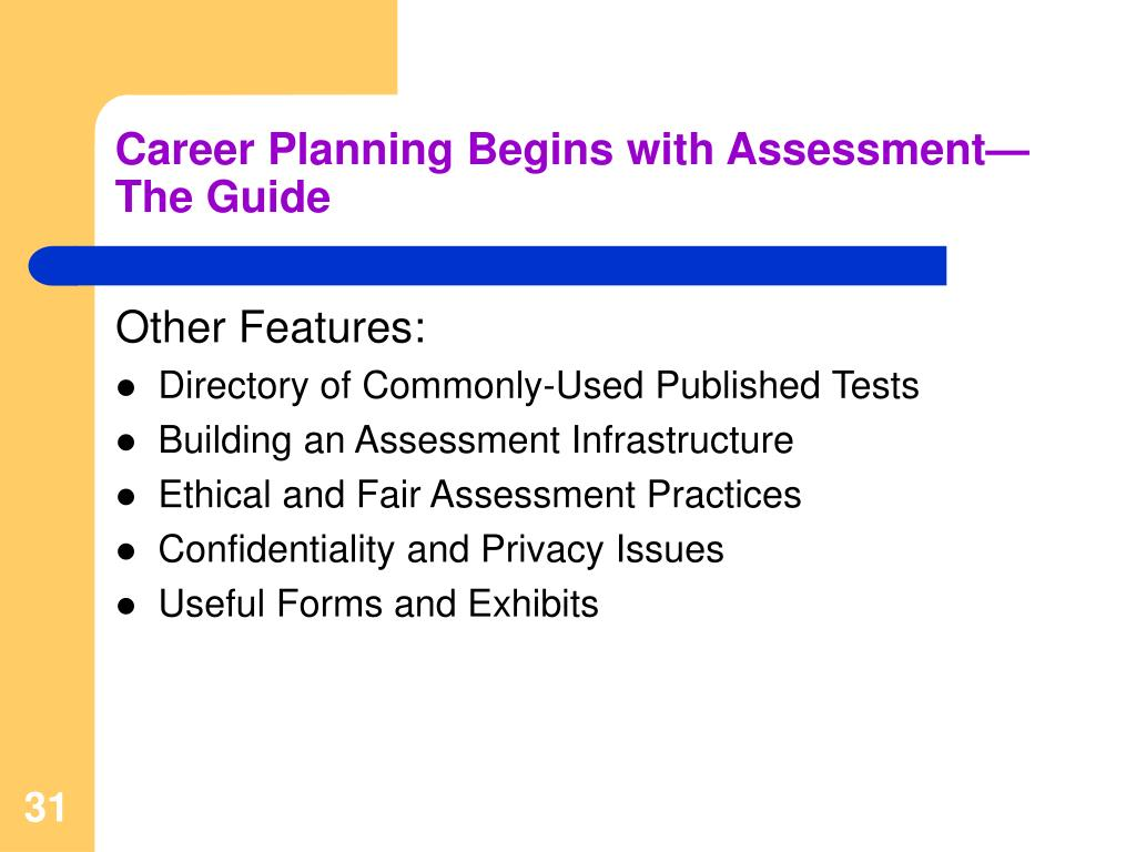 Career Planning Begins with Assessment—The Guide