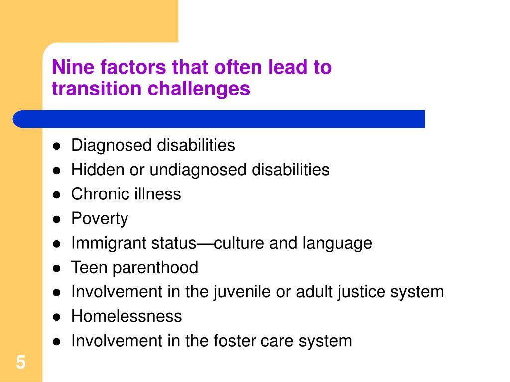Nine factors that often lead to