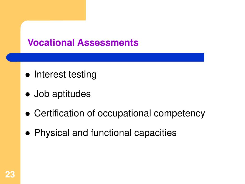 Vocational Assessments