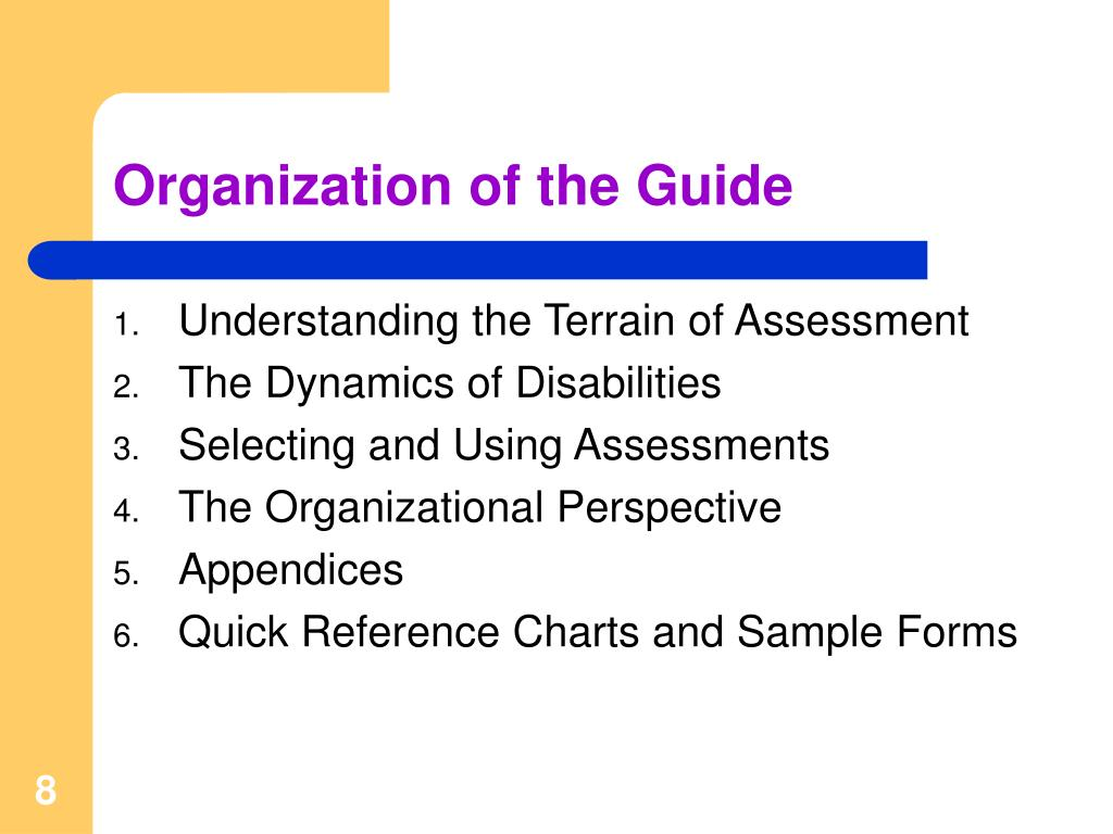 Organization of the Guide