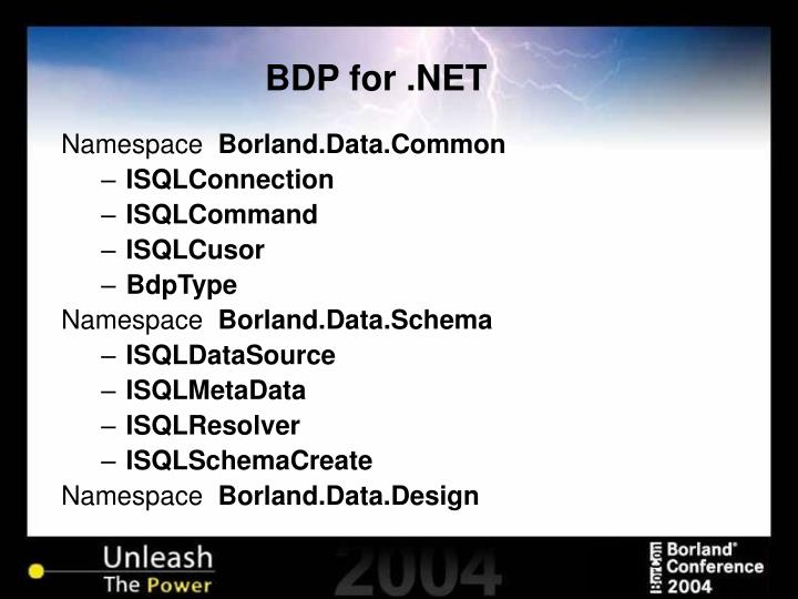 BDP for .NET
