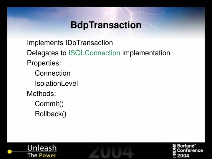 BdpTransaction
