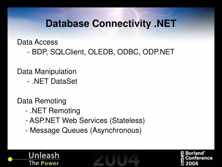 Database connectivity net