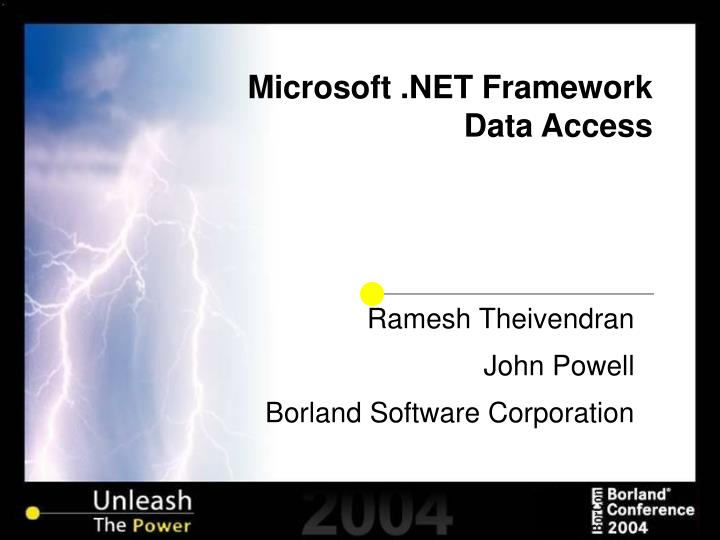 Microsoft net framework data access