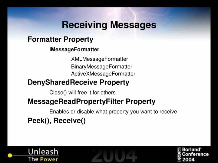 Receiving Messages