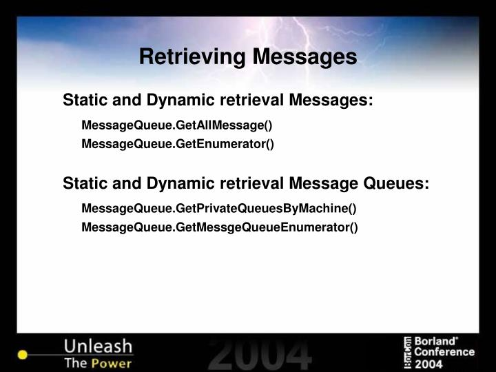 Retrieving Messages