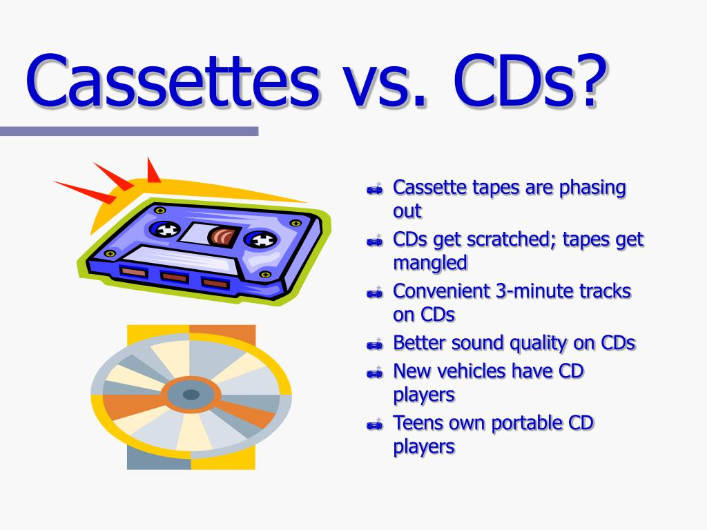 Cassettes vs. CDs?