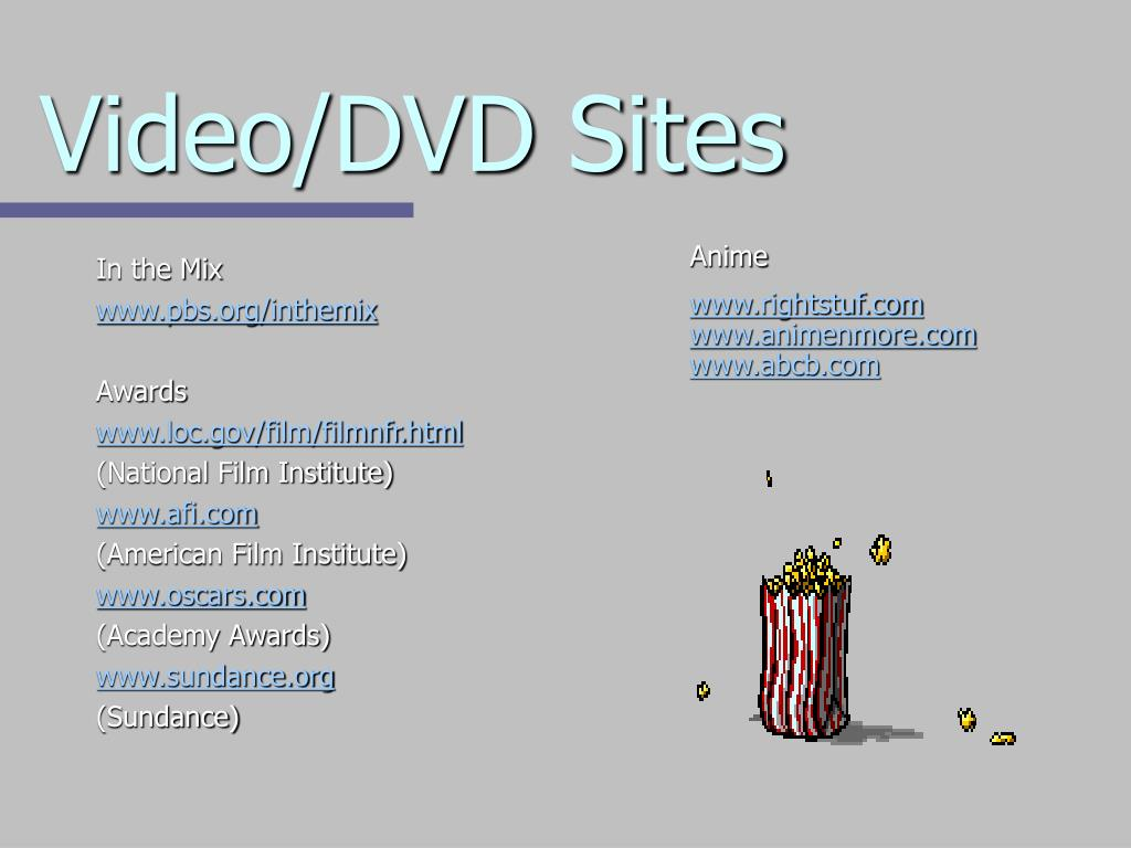 Video/DVD Sites