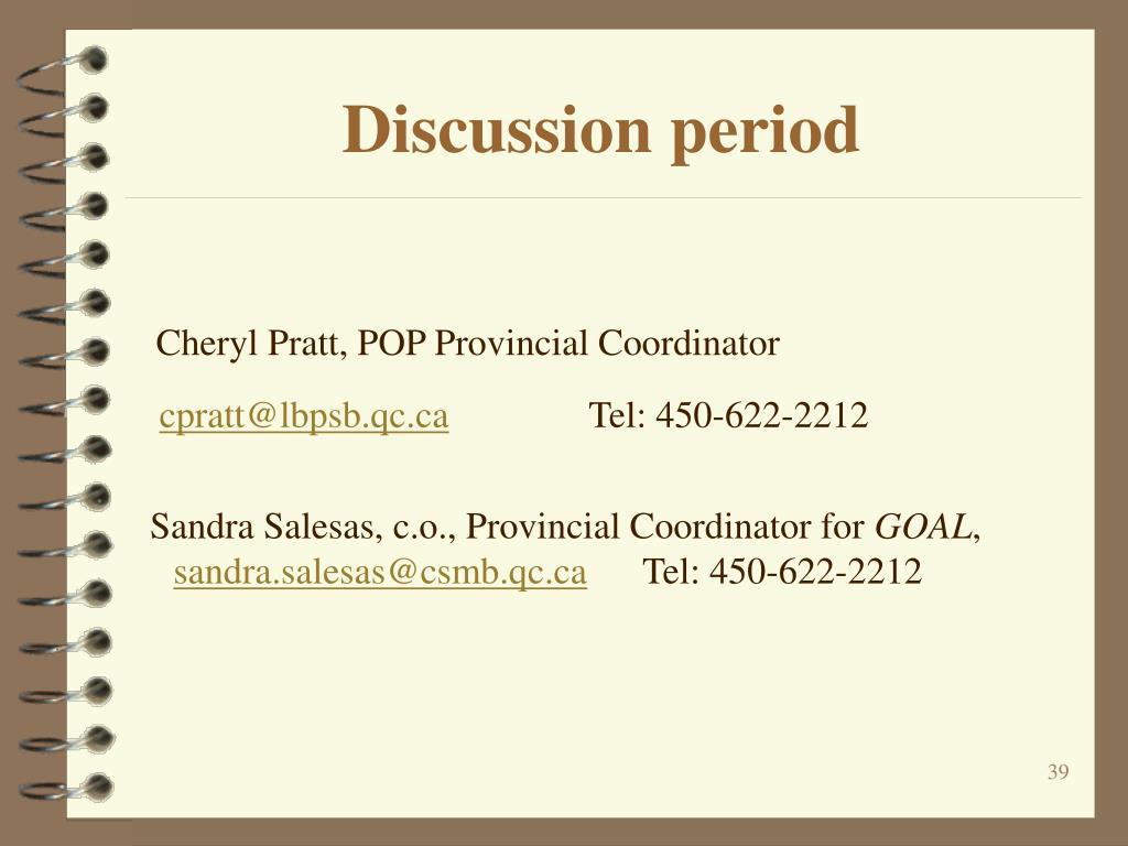 Discussion period