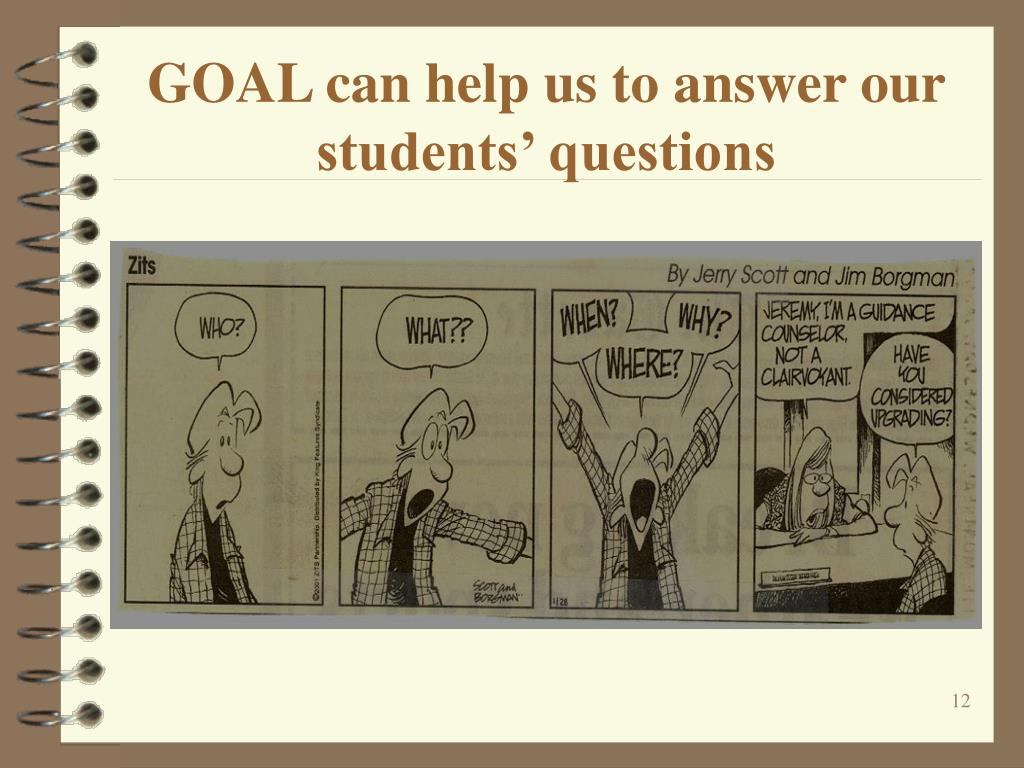 GOAL can help us to answer our students' questions