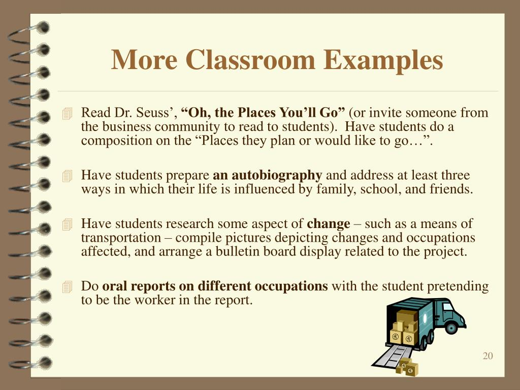 More Classroom Examples