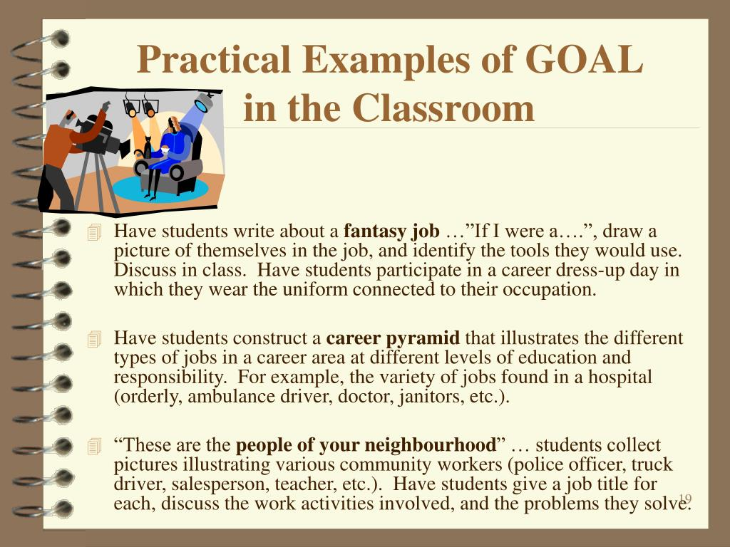 Practical Examples of GOAL