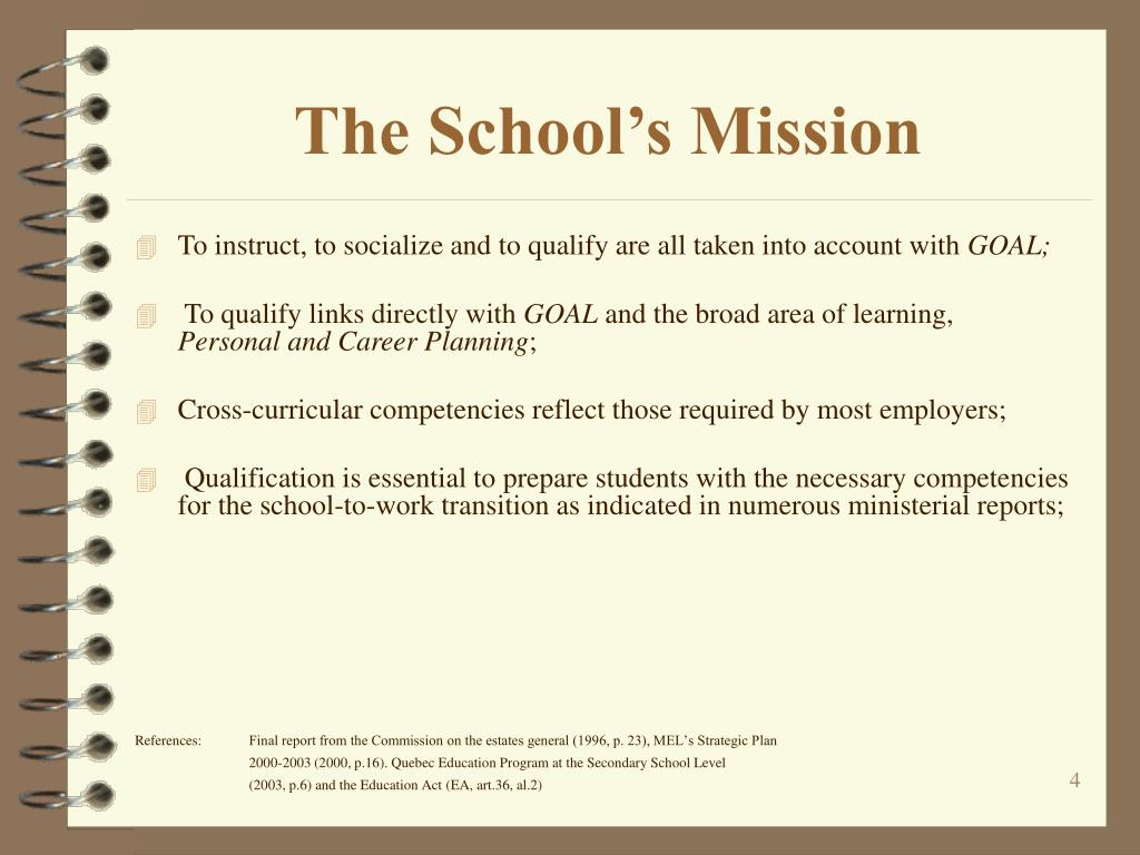 The School's Mission