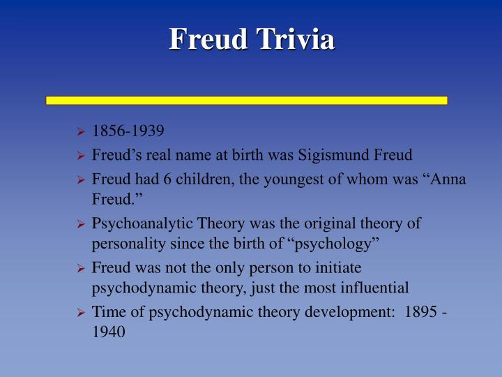 Freud Trivia
