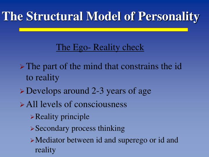 The Structural Model of Personality