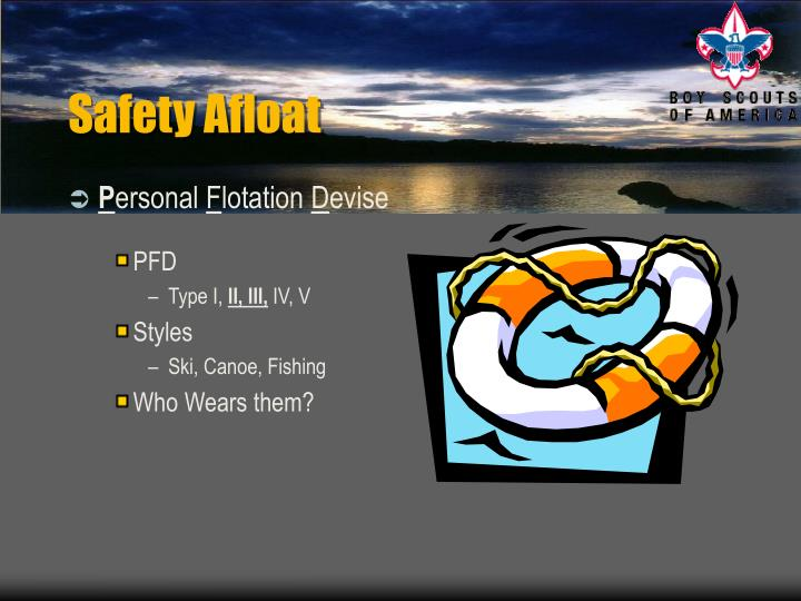 Safety Afloat
