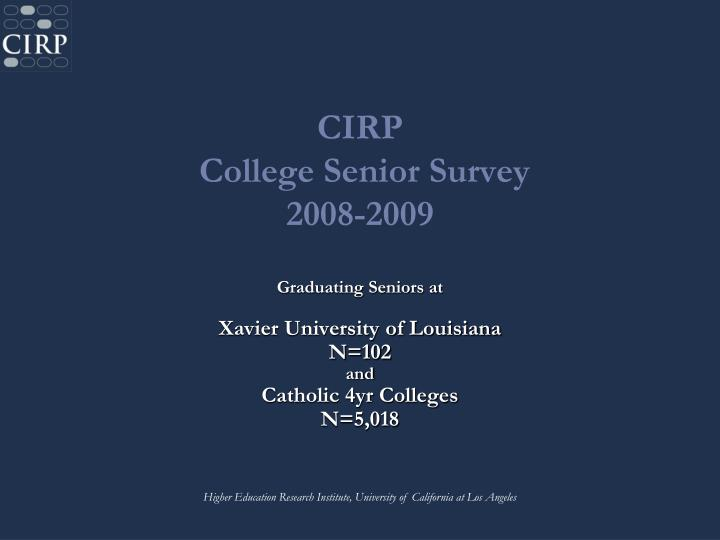 Cirp college senior survey 2008 2009