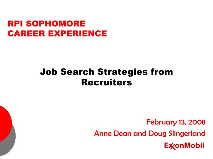 Job search strategies from recruiters