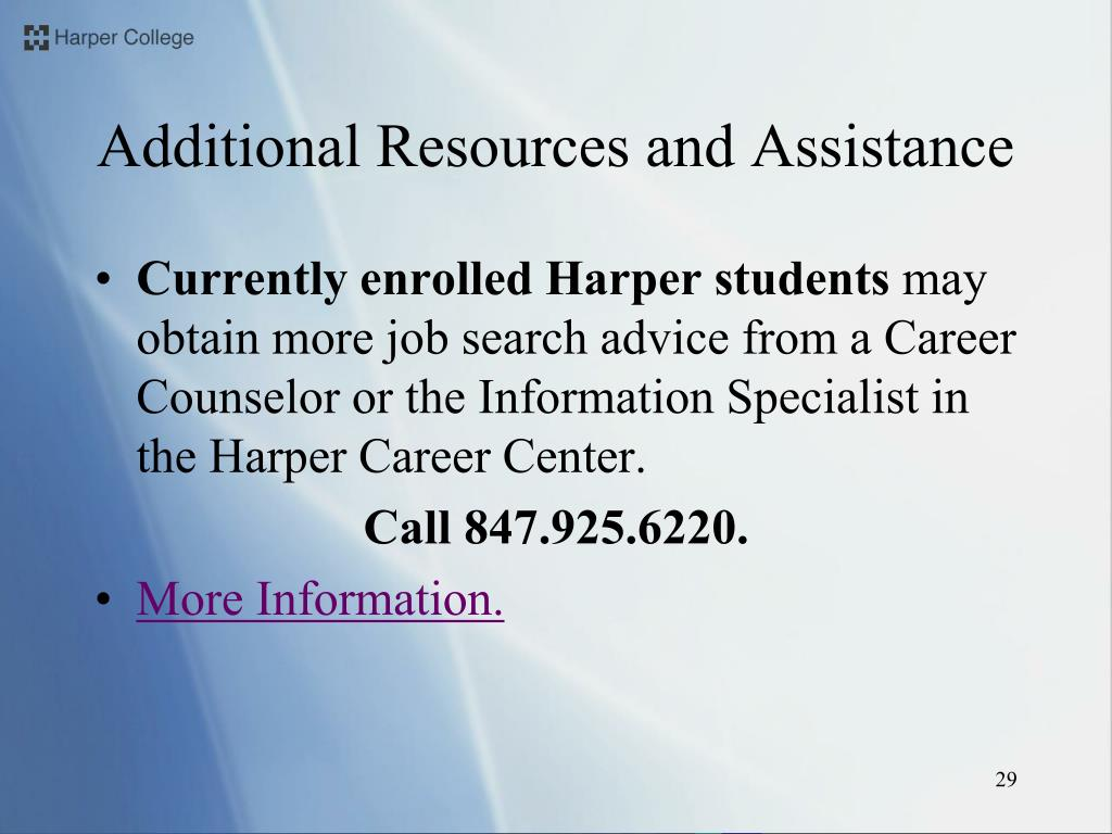 Additional Resources and Assistance