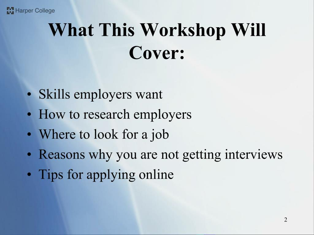 What This Workshop Will Cover: