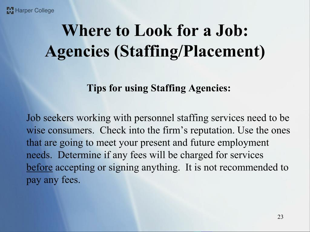 Tips for using Staffing Agencies:
