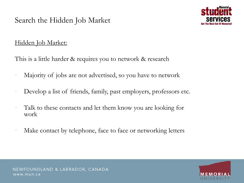 Search the Hidden Job Market