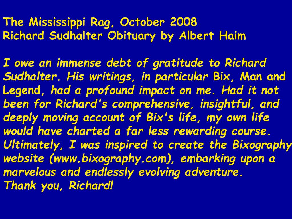 The Mississippi Rag, October 2008