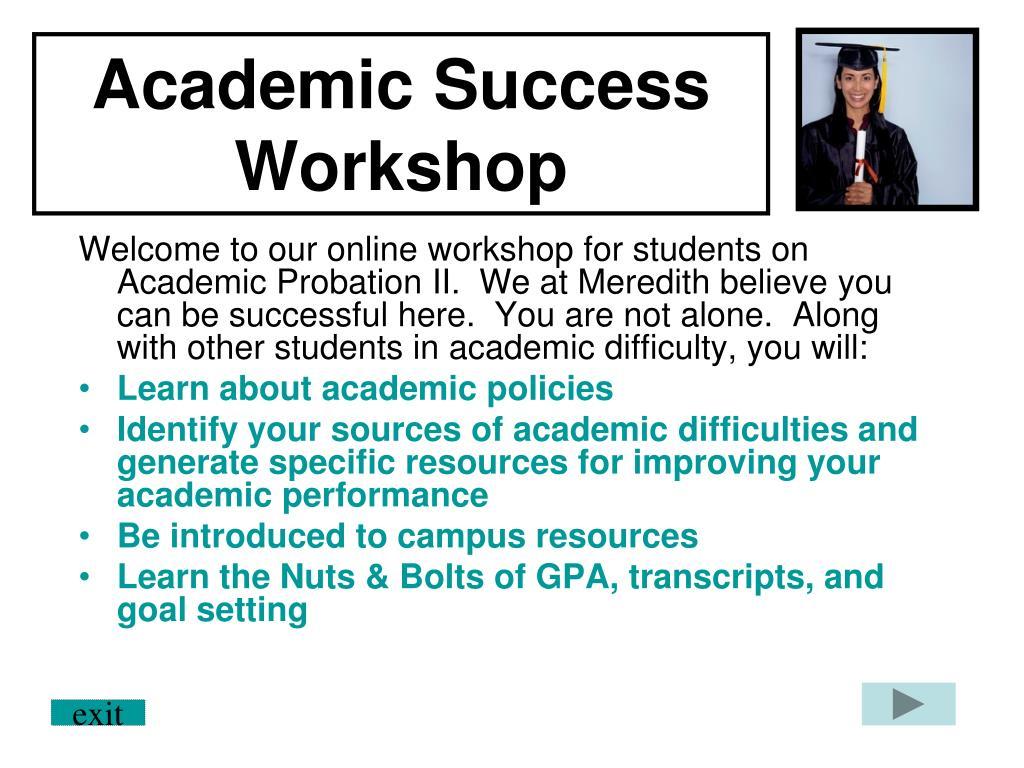 academic success workshop