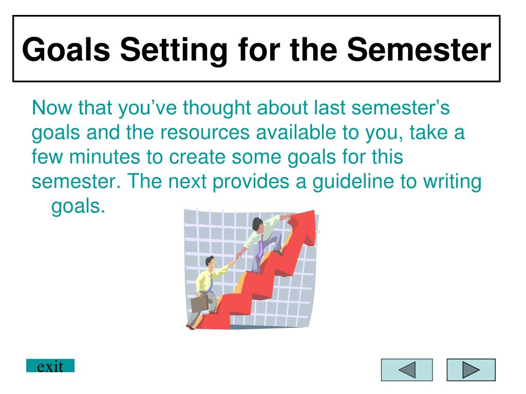 Goals Setting for the Semester