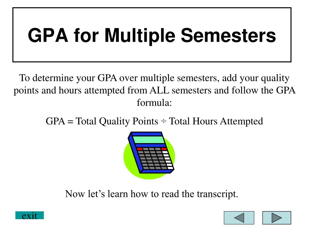 GPA for Multiple Semesters