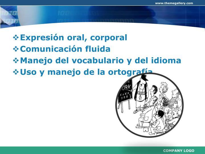 Expresión oral, corporal