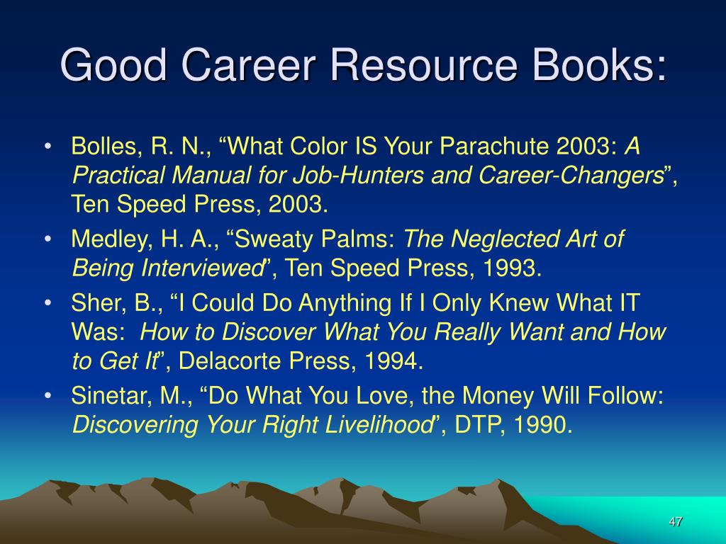 Good Career Resource Books:
