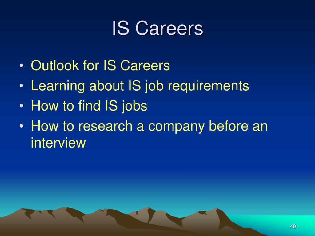 IS Careers