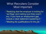 what recruiters consider most important14